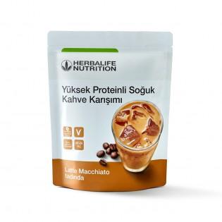 Yüksek Proteinli Soğuk Kahve Karışımı Latte Macchiato 308g
